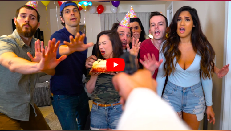 birthday surprise funny video