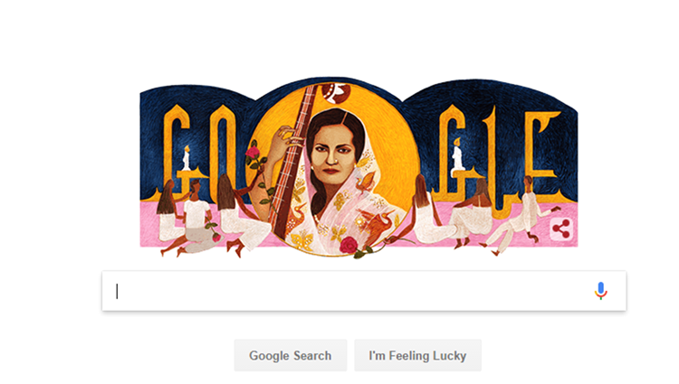 Google dedicates its doodle to Begum Akhtar on her birthday