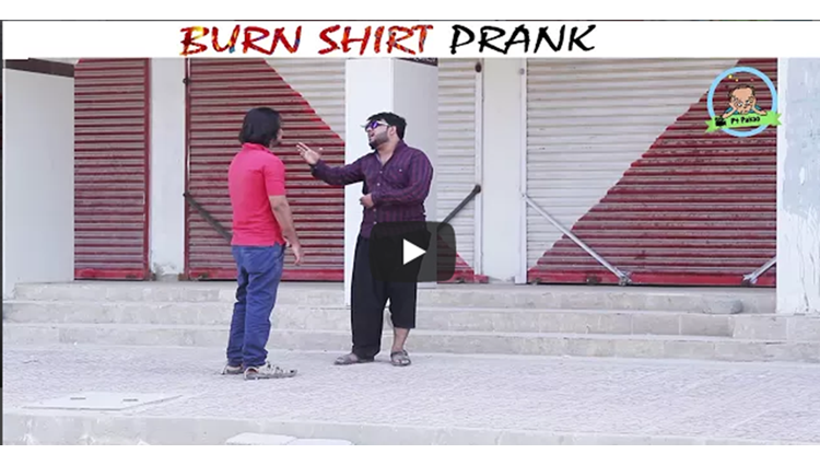 BURN SHIRT PRANK By Nadir Ali In P4 Pakao 2017