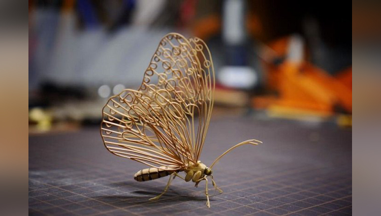 Tiny Insect Art is Made Completely from Bamboo Wood
