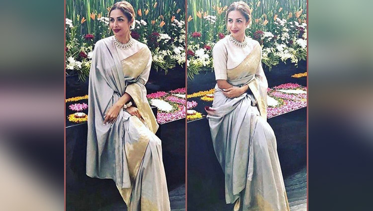 malaika arora hot in saree