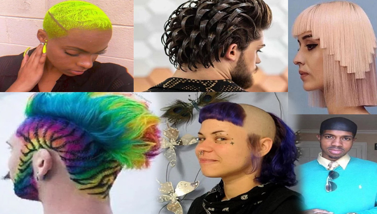 different type of weird hair style
