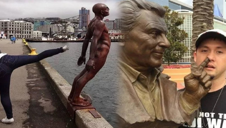 funny statue in public places