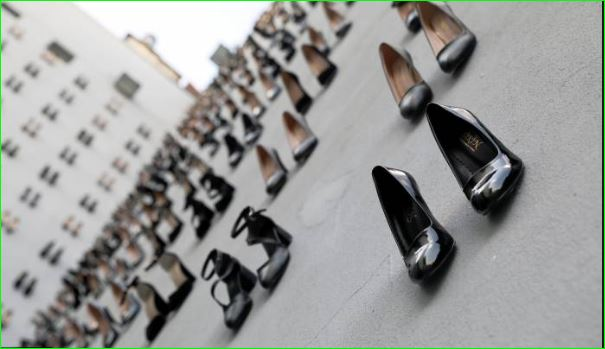 Artist Displays 440 Pairs of Heels for Women Murdered Due to Domestic Violence