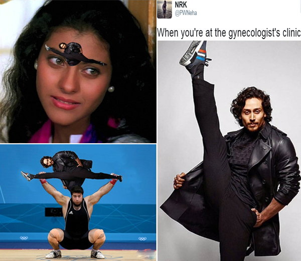 The picture on the social media ridiculed plenty of Tiger Shroff