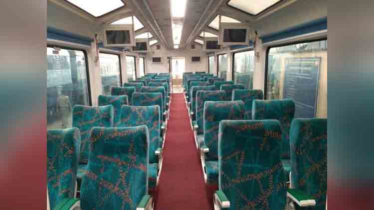 Railways launches glass ceiling train
