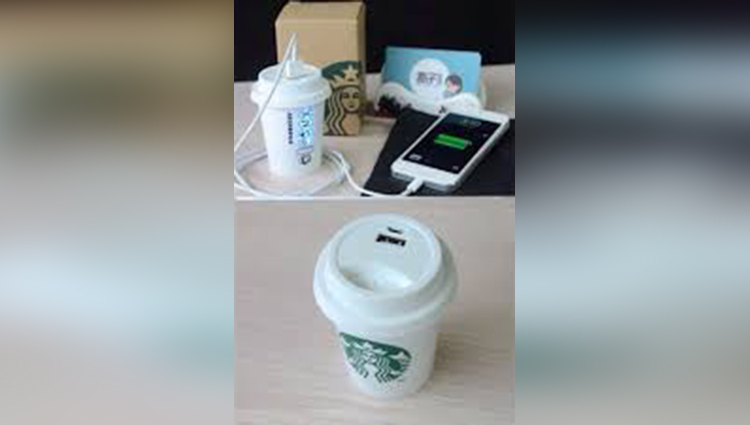 Time for Some Innovative Stuff: Starbucks Cup Transformed into a Portable Charger