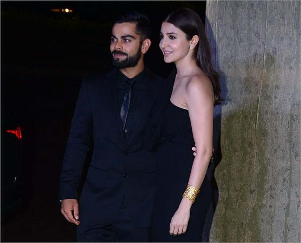 pictures of virat and anushka in manish malhotra party