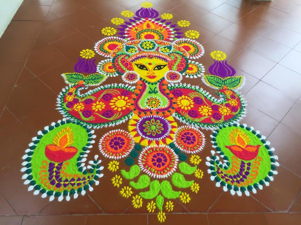 2016 best rangoli design