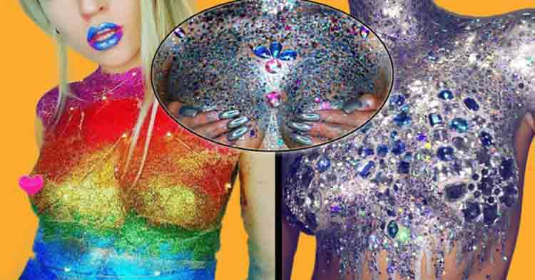 Stuck for something to wear? Bejazzled boobs are the next big thing