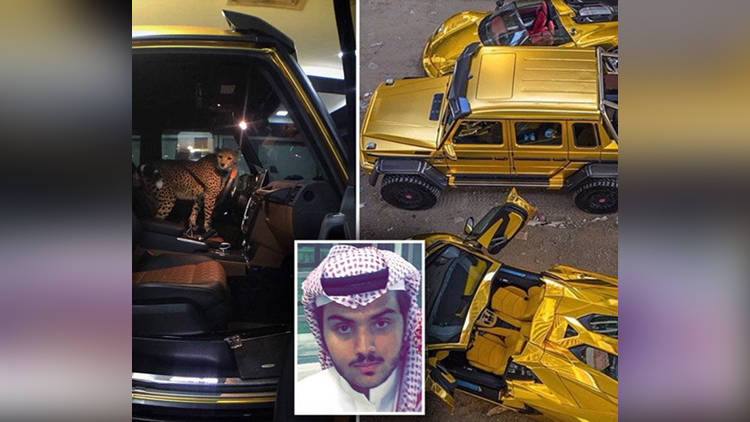 Turki Bin Abdullah Londons Gold Car Driving Arab Prince
