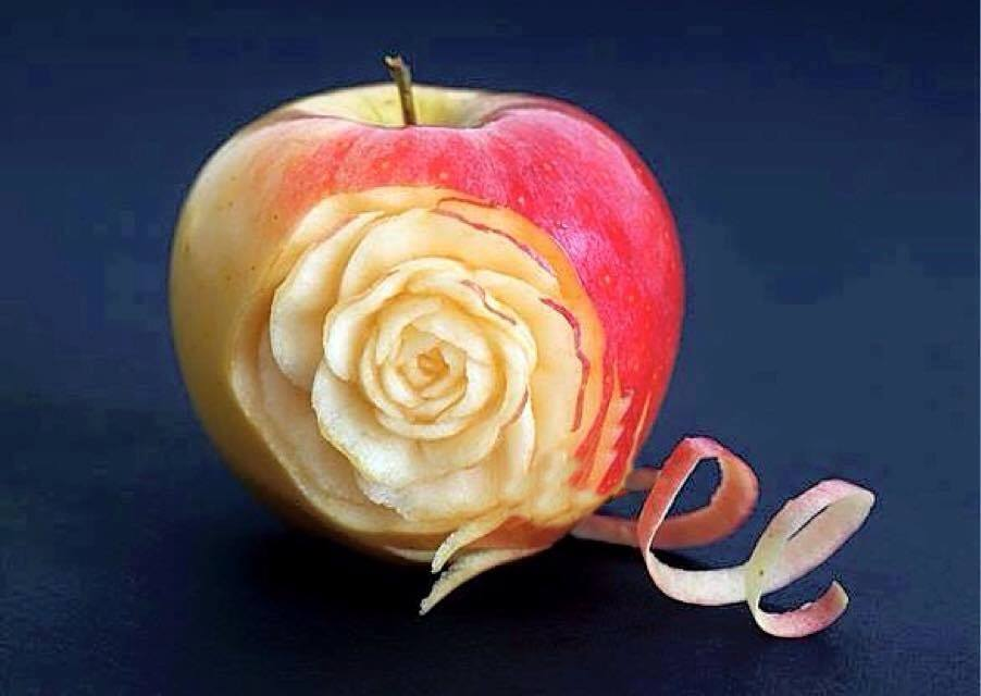 Amazing apple art see photos