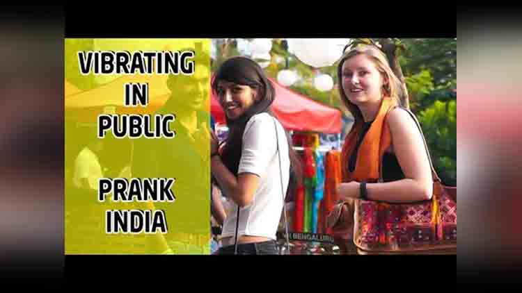 vibrating in public prank india viral video