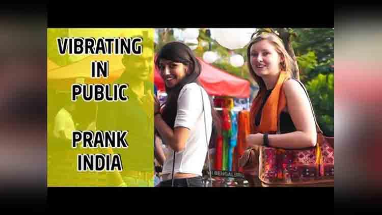vibrating in public prank india viral video