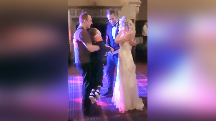 Mother and her disabled son sharing a first dance at her wedding goes viral