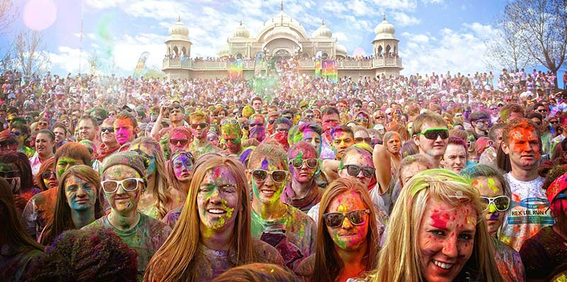 us utah people celebrating holi