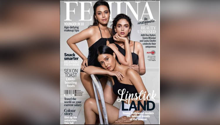 Magazine Covers Aditi Rao Hydari Swara Bhaskar Femina October 2017