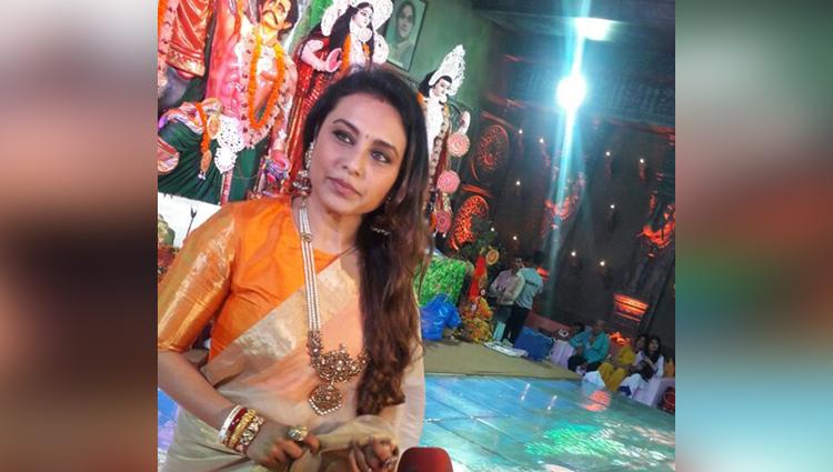 Rani Mukerji Celebrates Durga Puja, See In Pictures
