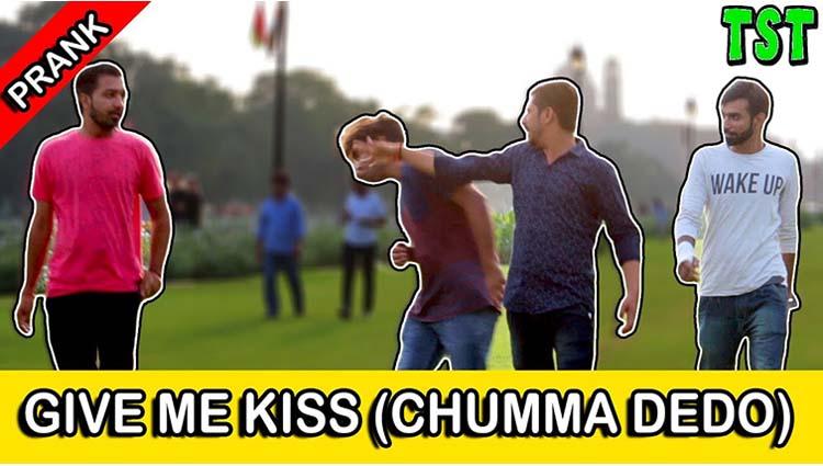 Give Me Kiss Chumma Dedo Prank TST