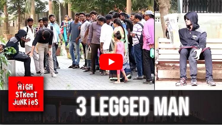 TEEN PAIRON WALA INSAAN THREE LEGGED MAN PRANKS IN INDIA PRANKS IN INDIA 2017 PRANKS 1ST TIME