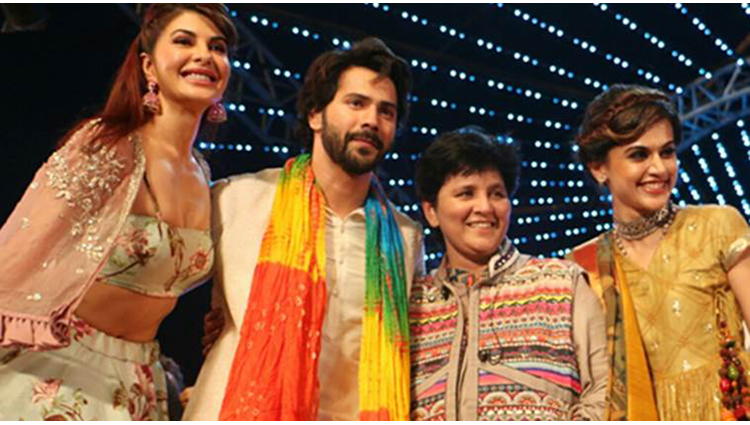 Varun, Jacqueline, and Taapsee Enjoyed The Colour Of Navratri