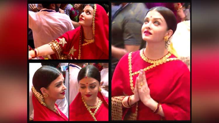 Aishwarya rai bachchan visited Lalbaugcha Raja