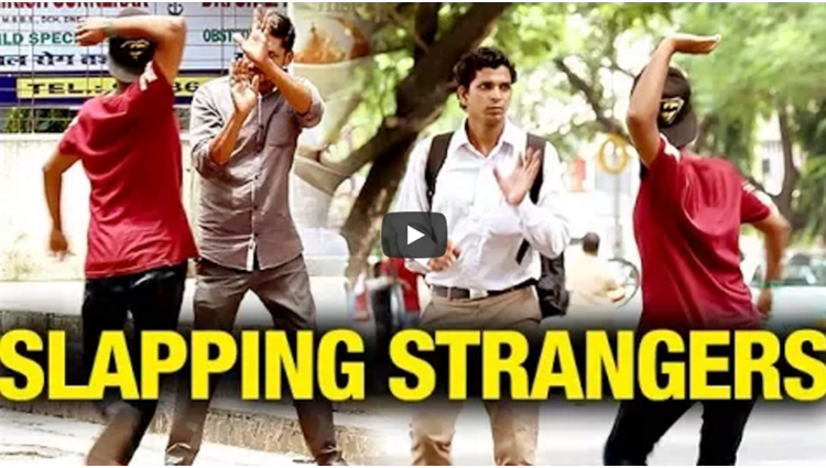 Hitting Invisible Strangers Funny Prank Street Swaggers