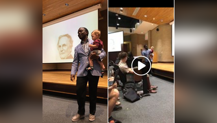 Professor invites single mom to bring baby to class