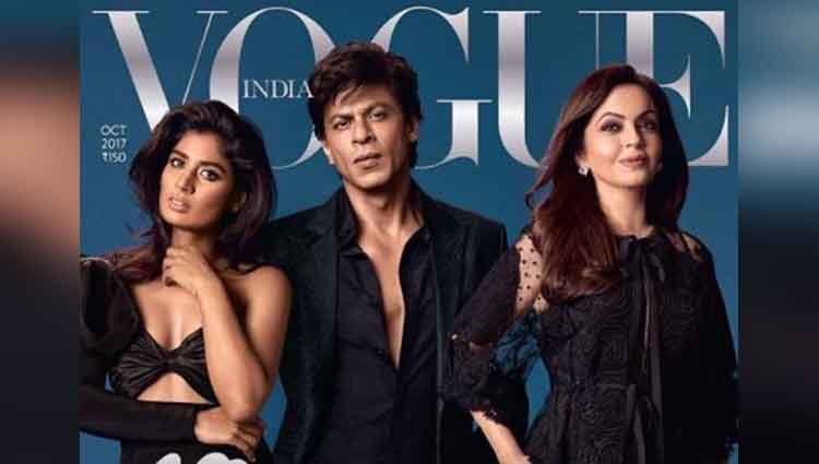 Shahrukh Khan, Mitali Raj, And Nita Ambani At Vogue's Cover