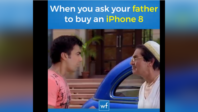 when you ask your father to buy iphone 8