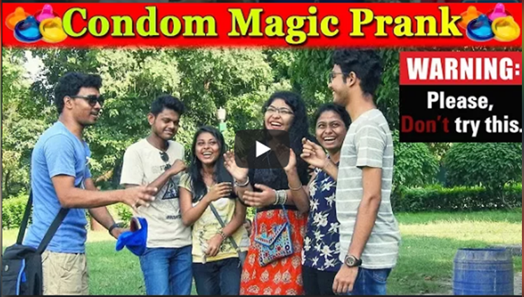 Condom Magic Prank Girls Epic Reaction Prank In India FUNDAY PRRANKS