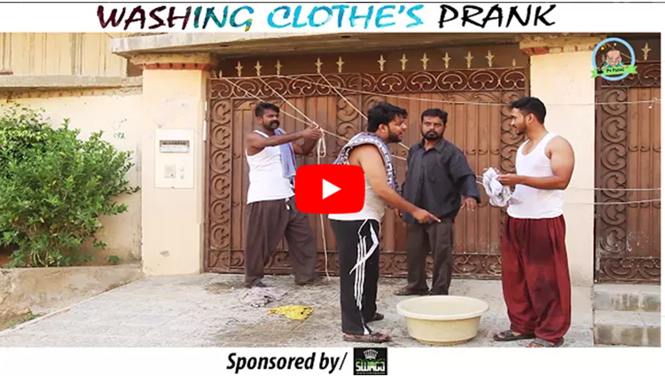 WASHING CLOTHES PRANK By Nadir Ali In P4 Pakao 2017