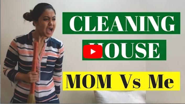 House Cleaning By Daughter And Her Mother