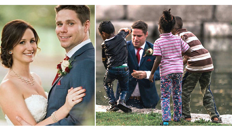 Groom becomes best man saves little boy from drowning