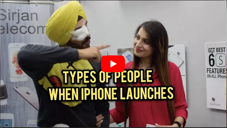 People When New iPhone launches SahibNoor Singh