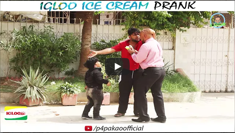 IGLOO ICE CREAM PRANK By Nadir Ali and Rizwan In P4 Pakao 2017