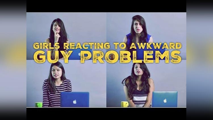 Girls reacting to AWKWARD GUY PROBLEMS ODF