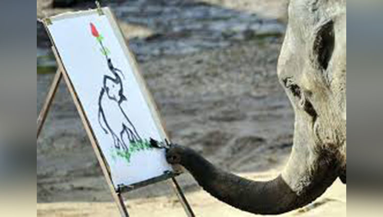 Suda the Elephant Painting