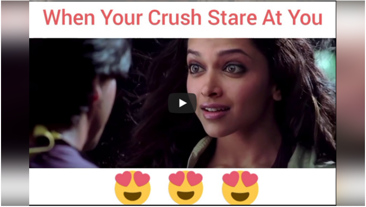 Story Of A Crush Through Bollywood Songs