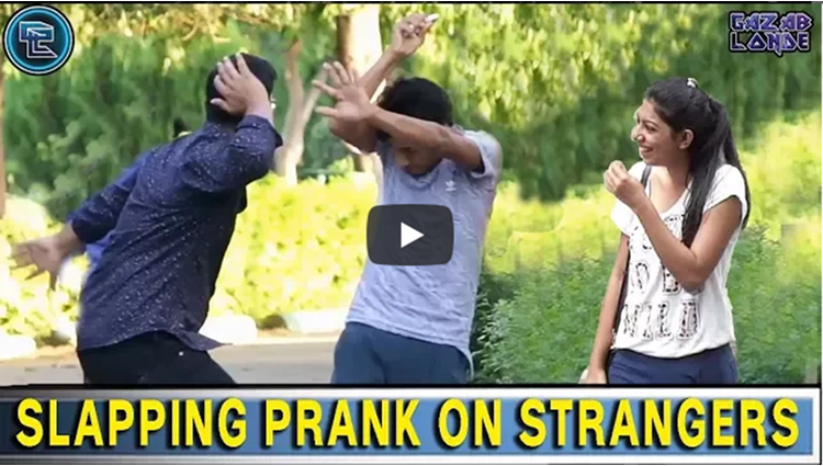 SLAPPING PRANK ON STRANGERS
