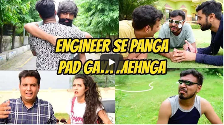 Amit bhadana engineer se panga paad gaya nehnga