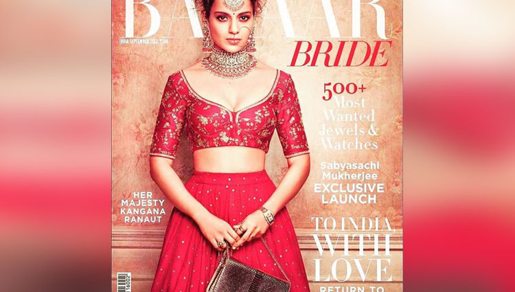 As Kangana Ranaut dresses like a bride we only see the queen