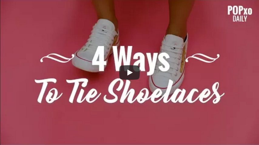 4 Ways To Tie Shoelaces