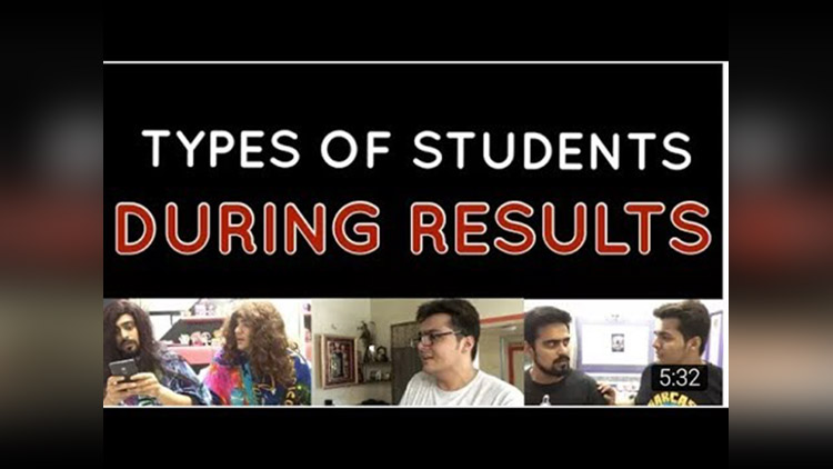Students during results Ashish Chanchlani Vines