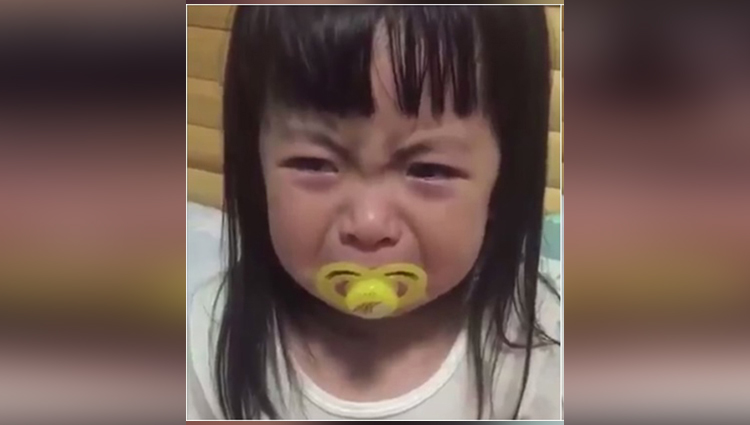 This adorable girl DOESN'T WANT to stop crying