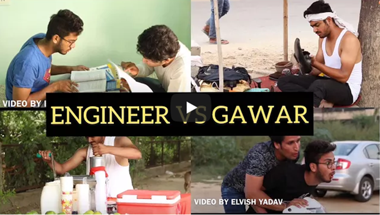 ENGINEER VS GAWAR ELVISH YADAV