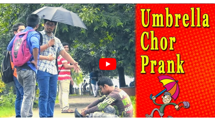 UMBRELLA CHOR PRANK FUNNY PRANK IN INDIA FUNDAY PRANKS