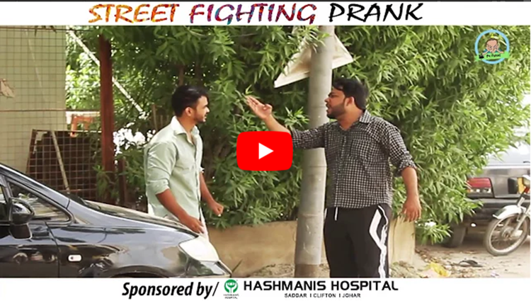 STREET FIGHTING PRANK By Nadir Ali In P4 Pakao 2017