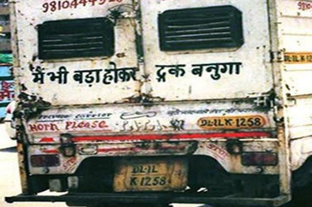 funny lines written on trucks
