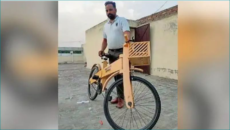 Wooden cycles made by Punjab man